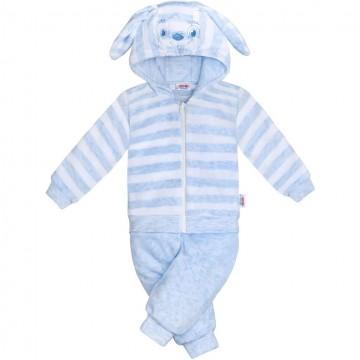 2-dielna semišková súpravička New Baby Rabbit modrá