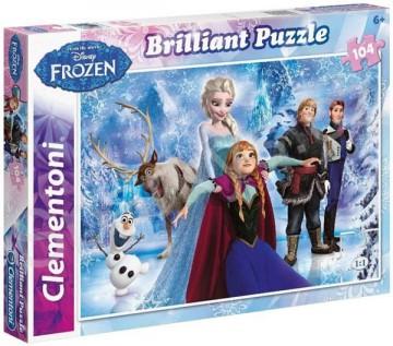 Puzzle Ledové Království Briliant 104 dílků