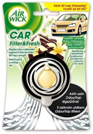 AirWick Car - osvěžovač vzduchu - svěží vanilka a voňavé květy, 3ml