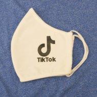 Textilní rouška - TikTok - bílá, 1ks