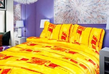 Lenjerie de pat din microflanel, 140x200/90x70 cm [PL3006]