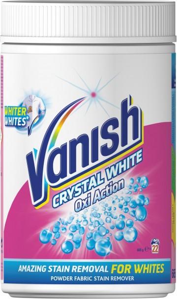 Vanish Oxi Action - odstraňovač skvrn na bílé prádlo - prášek, 665g