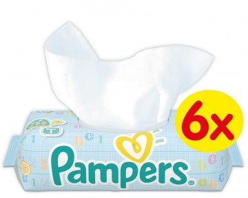 Pampers Vlhčené ubrousky - Natural Clean, 6x64ks