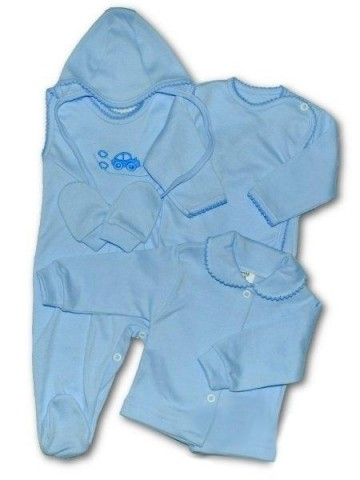 5-ti dílná soupravička New Baby modrá