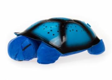 Magická korytnačka - projektor hvězd, hrajúcá - modrá