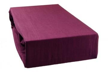 Cearșaf jersey 90x200 cm - violet închis