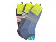 Pánské kotníkové bambusové ponožky Bambus soX BB18607 - 3 páry, velikost 43-46