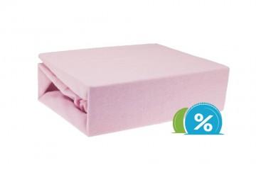 Jersey gyermek lepedő 60x120 cm - rózsaszín