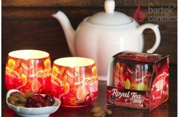 Vonná svíčka ve skle - Roayal Tea mandle a třešeň, 100g