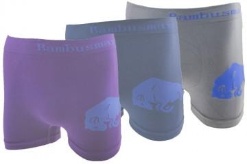 Bezešvé boxerky Bambusmax P9022 s býkem - 3ks, velikost L