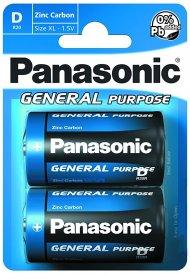 Baterie General Purpose R20BE/2BP - 1,5 V - 2x D baterie - blistr - Panasonic