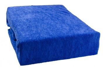 Cearșaf plușat 180x200 cm - albastru