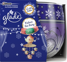 Vonná svíčka ve skle – Glade – Velvet Tea Party, 120g