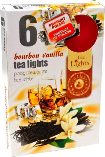 Čajové svíčky 6 kusů –  Bourbon a vanilka