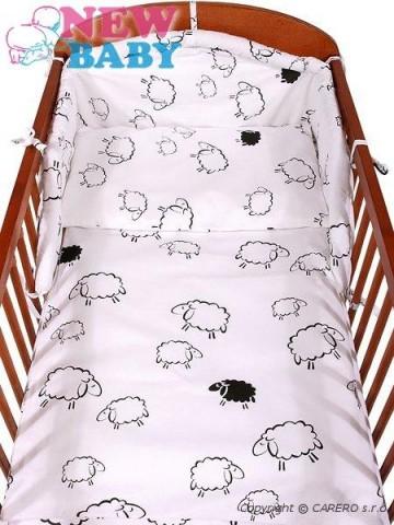2-dielne posteľné obliečky New Baby 90/120 cm Ovečky biele