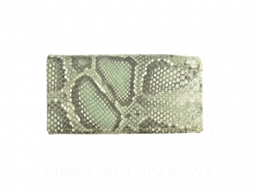 Dámská peněženka vzor hadí kůže - zelená [6932]
