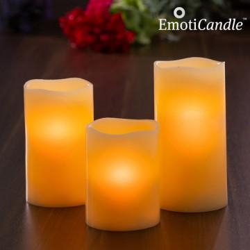 LED svíčky blow sensor EmotiCandle - 3 ks