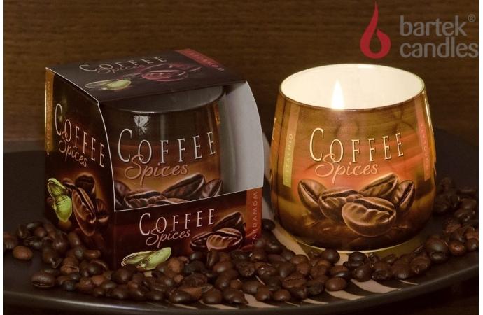 Vonná svíčka ve skle - Káva a cardamom, 100g