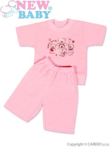 Dětské letní pyžamo New Baby růžové