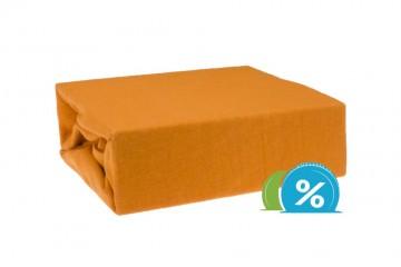 Jersey gyermek lepedő 60x120 cm - narancssárga