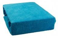 Prostěradlo froté 160x200 cm - azurové