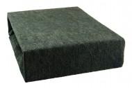 Prostěradlo froté 90x200 cm - černé