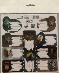 BENIAMIN Samolepící jmenovky Wild Papír, 20x20 cm
