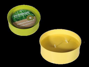 Citronella gyertya fém tálban