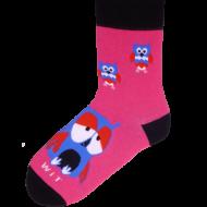 Ponožky - Sova magenta - velikost 39-42
