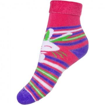 Dětské froté ponožky New Baby s ABS růžové s zajíčkem