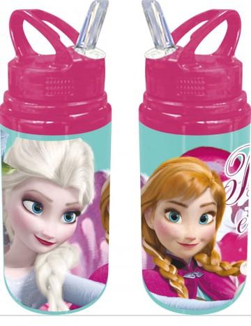 ALU láhev s brčkem Ledové Království zelená 500 ml