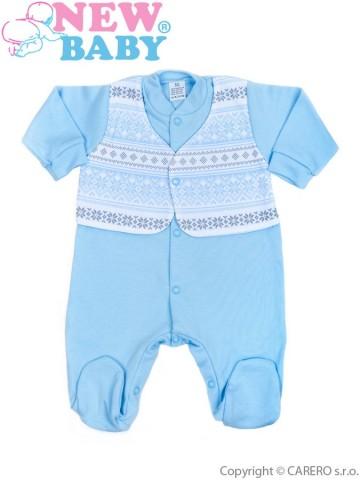 Dojčenský overal New Baby Etnik modrý