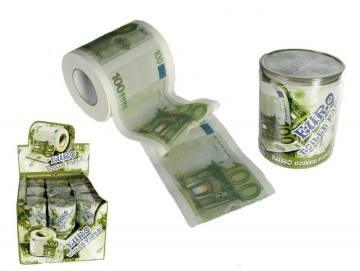 WC papír 100 Euro