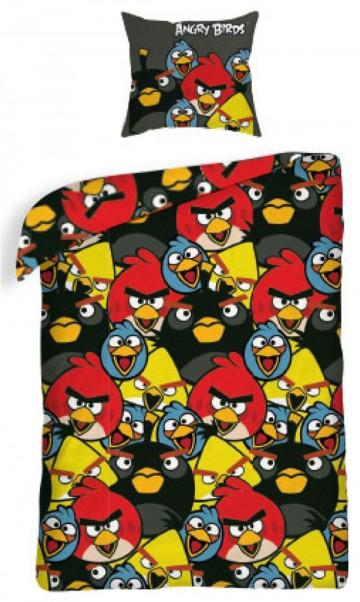 Povlečení Angry Birds black 140/200