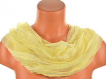 Dámský jednobarevný tunelový šátek - žlutý