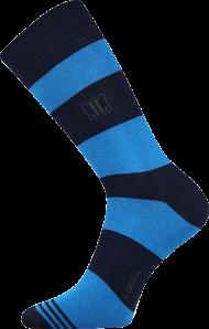 Ponožky Pruhy, modré - 1 pár, velikost 39-42
