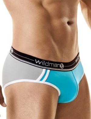 Pánské slipy Wildmant Racer Short tyrkysovo bílé, Velikost oblečení M