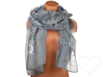 Dámský jednobarevný šátek - šedý