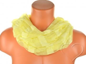 Eșarfă tunel pentru femei - galben