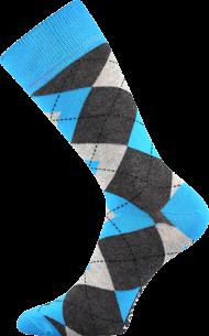 Ponožky Káro, modré - 1 pár, velikost 39-42