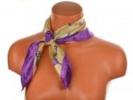Malý šátek s motivem motýla, 55x55cm - fialový