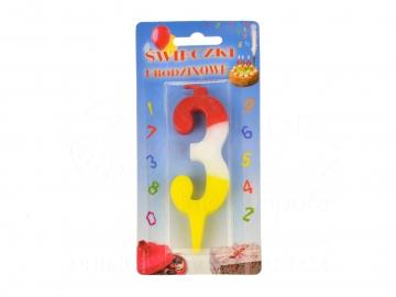 Dortová svíčka - trojka