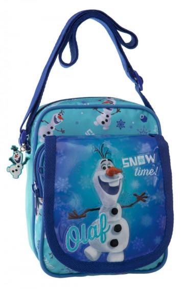 Taška přes rameno s kapsou Ledové Království Olaf 19 cm