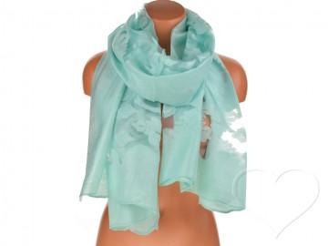 Eșarfă pentru femei de o culoare - verde mentolat