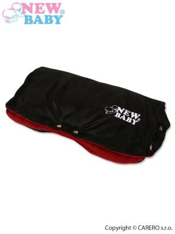 Rukávník na kočárek Classic Fleece black/red