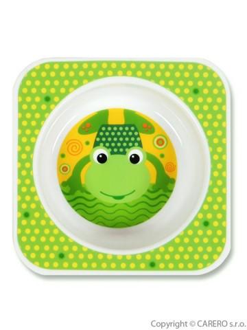 Dětská miska Akuku zelená