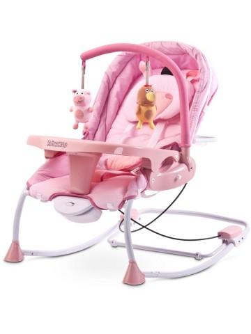 Dětské lehátko CARETERO Rancho pink