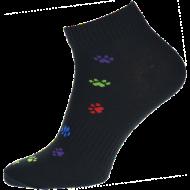 Ponožky - Tlapka černobarevná nízké - velikost 39-42