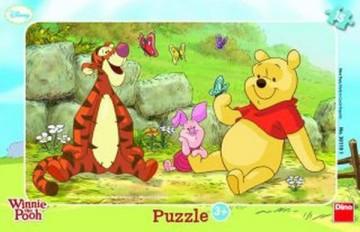 Deskové puzzle Medvídek Pů