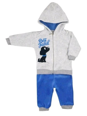 2-dielná semišková dojčenská súprava Koala Best Friend chlapec modrá
